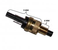 BRAKE SWITCH (MOPED) Threads=6mm Base to Tip=9mm Out=Closed, In=Open Circuit