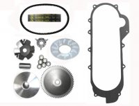 Variator Belt Kit, Long Case Chinese GY6 QMB139 49cc Scooter 729x17.5x30 Powerlink Belt, Crankcase Gasket Shaft=14mm