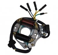 Stator 50-125cc 4 Stroke Fits Many Chinese ATVs, Dirt Bikes 2 Coils 5 Wires