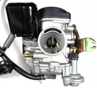 CARBURETOR PD18J 49-80cc With booster pump Intake ID=18 OD=28 Air Box OD=39mm Fits Most 49-80cc Scooters-ATVs With GY6 Belt Drive Engine