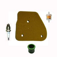 ETON & POLARIS 50cc 70cc 90cc 2 Stroke Maintenance Kit Air Filter, Fuel Filter, Spark Plug & PU Steering Bushing