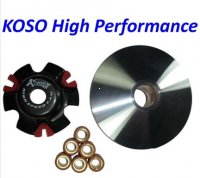 VARIATOR KIT (HIGH PERFORMANCE) KOSO GY6-125,149,180cc Scooters-ATVs-GoKarts Shaft=15 OD=115mm