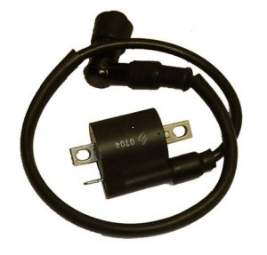 "Ignition Coil Fits Most ATVs-Motocycles With CG125-250cc Engine Plug Cap=90deg 18"" 1 Terminal Bolts Ctr to Ctr = 57mm"