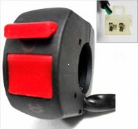 KILL SWITCH Fits Many ATV, Dirtbikes, GoKarts 2 Pins in 2 Pin Male Jack Wire L=19""