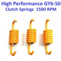 Clutch Spring Set HIGH PERFORMANCE Yellow +1500 RPM GY6-50 QMB139 49cc Chinese Scooter Motors