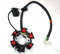 Stator 49-150cc 4 Stroke Fits many Chinese ATVs, GoKarts, Scooters 6 Coil 5 Pin in 6 Pin Jack