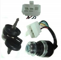 IGNITION SWITCH Momentary Action (Springs Back) Fits Many Chinese Go Karts 5 Pins in 6 Pin Jack