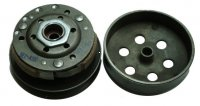 Rear Clutch 49cc GY6-QMB 4 Stroke Bell ID=107mm, Shaft=12mm, Splines=22 Fits Most 49cc Chinese Scooters