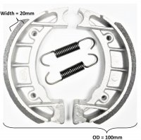 Brake Shoes OD=100x20mm Fits Some Tomos Revivals, ATVs, Scooters