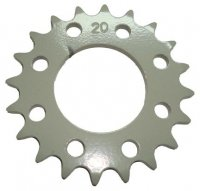 Rear Sprocket #415HD 20th Bolt Pattern=8 holes each are 24mm Ctr to Ctr, Shaft=42mm TOMOS A35/A55