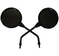 MIRRORS 8mm (Both RH Thread) Black Sold Per Pair