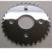 Rear Sprocket #420 32th Many Taiwanese ATVs Bolt holes Ctr to Ctr =57 Hole ID=44 Fits Eton 50 + more