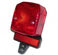 TAIL LIGHT (MOPED) W/O RESISTOR Fits most European Mopeds 2 Bolt 3 Prongs for Wiring 84 x 100 x 58