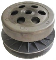 Rear Drive Clutch-Driven Pulley Fits Many 250-300cc GY6 Chinese ATVs, GoKarts, Scooters, UTVs Bell ID=135mm Shaft ID=17 Splines=16