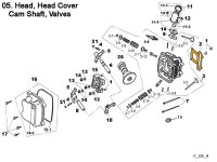 Head, Head Cover Camshaft, Valves
