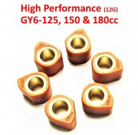 18X14 (12G) High Performance Clutch Sliders Set For GY6-125,150-180cc Scooters, ATVs,GoKarts