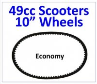 "BELT 669x18x30 Economy Belt Fits Most Chinese 49cc 4 Stroke Scooters With 10"" Wheels"