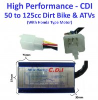 CDI Box 4 Stroke 50-125cc ATVs-Dirtbikes with Honda Type Engine HIGH PERFORMANCE 5 Pins in 6 Pin Jack