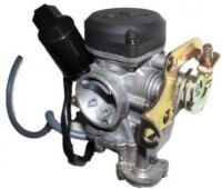 Keihin PD18J Carburetor with booster pump TOP QUALITY - Best Value Intake ID=18 OD=28 Air Box OD=38mm Fits Most 49-90cc Scooters With GY6 Belt Drive Motors