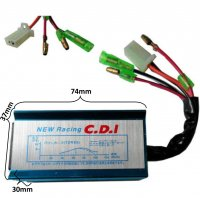 CDI Box 2 Stroke 49-70cc Scooters HIGH PERFORMANCE 2 Pin Male Jack + 3 Wires 74x37x30