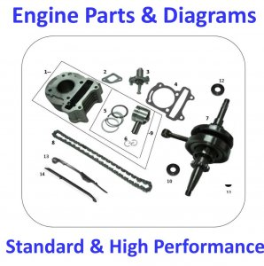 Engine Parts & Diagrams Standard & High Performance