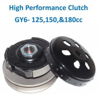 High Performance Clutch GY6-125,150,180 Fits Scooters, ATVs, GoKarts. Great off the line performance