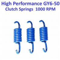 Clutch Spring Set HIGH PERFORMANCE Blue +1000 RPM GY6-50 QMB139 49cc Chinese Scooter Motors