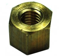EXHAUST NUT TALL For easy mounting in recess cylinder Fits 6mm Stud, Nut HT= 8mm