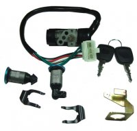 IGNITION SWITCH Fits Many 50-150 Scooters With Seat and Trunk Lock 5 Pin in 6 Pin Female Jack