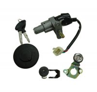 Ignition Switch Fits Many 50-150 Scooters With gas Cap 4 Pin with 4 Pin FM Jack Bolts c/c=50mm