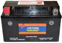 "PTX7ABS-FS Fire Power Battery Sealed Maintenance Free L=5 7/8"" W=3 3/8"" H=3.75"""