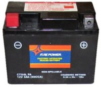 "PTX4LBS-FS Fire Power Battery Sealed Maintenance Free L=4 3/8"" W=2.75"" H=3 3/8"""