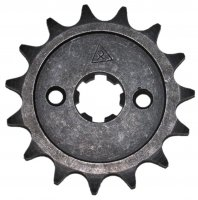 Front Sprocket #428 15th Bolts=2x30mm Ctr to Ctr, Splines=6 Shaft=14/17mm (shortest/longest point) 50-125cc MOST CHINESE ATVs
