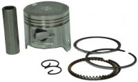 PISTON KIT 60cc 4-Stroke B=44mm PIN=13mm H=31 Ctr Pin To Top=17 Fits Many Chinese GY6 Scooters