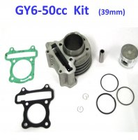 49cc (Standard) Cylinder Piston Top End Kit For GY6-50 QMB139 Chinese Scooter Motors. Bore=39mm
