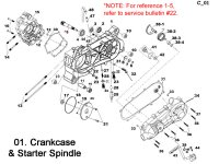 Crankcase and Starter Spindle