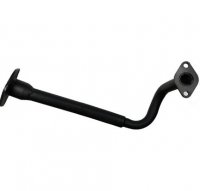 EXHAUST HEADER PIPE GY6-50 QMB139 49cc Chinese Scooter Motors Stud Holes c/c=50mm Can Holes c/c=70mm