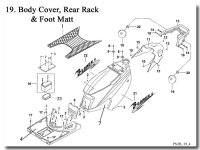 Body Cover Foot Mat and Rear Rack