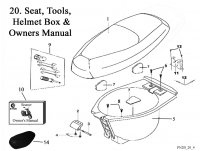 Seat Tools Helmet Box and Owner's Manual