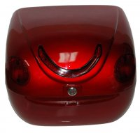LUGGAGE BOX (Wine) DELUXE With Brake Lights and Turn Signals 16 x 15 x 11 Top Quality-Taiwan Production
