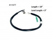 "Negative Battery Cable L=19"" with 3"" smaller lead"