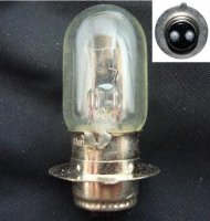 12V 25/25W Headlight Bulb 2 Terminal 15mm Base