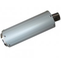 "EXHAUST CANISTER GY6-50 QMB139 49cc Chinese Scooter Motors Length=14.5"" OD=113mm Bolts c/c=68mm"