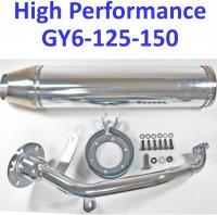 HIGH PERFORMANCE GY6-125, GY6-150 Chinese Scooters Exhaust Pipe
