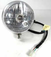 "Headlight (Round) OD=4.5"" 3 Pins in 3 Pin Female Jack + 2 Pins in 2 Pin Male Jack"