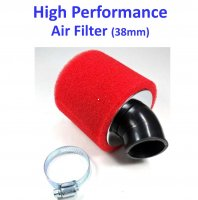 Air Filter ID=38mm 45d ANGLE, Filter OD=88mm, Length=80
