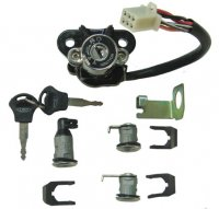 IGNITION SWITCH Fits Many 150-250 Scooters With 3 Locks 6 Pin in 6 Pin Jack Bolts c/c=50mm