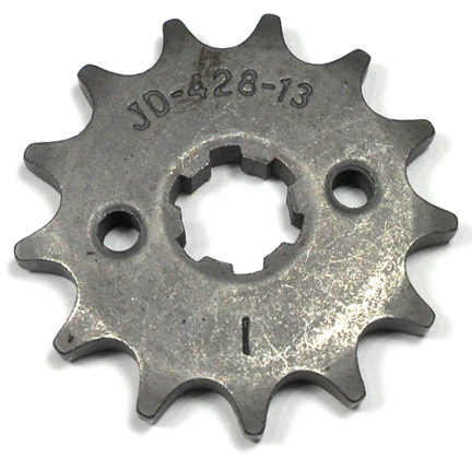 Front Sprocket #428 13th Fits Tao Tao, Roketa, Peace, Baja, Coolster, 110-125cc GoKarts - Dirt Bikes