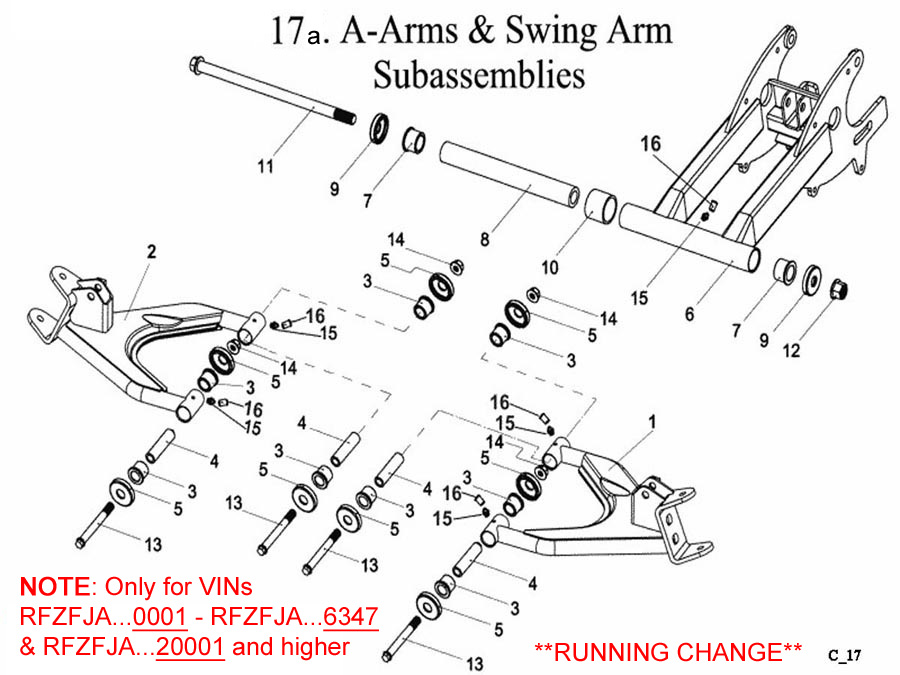A Arms and Swing Arm A