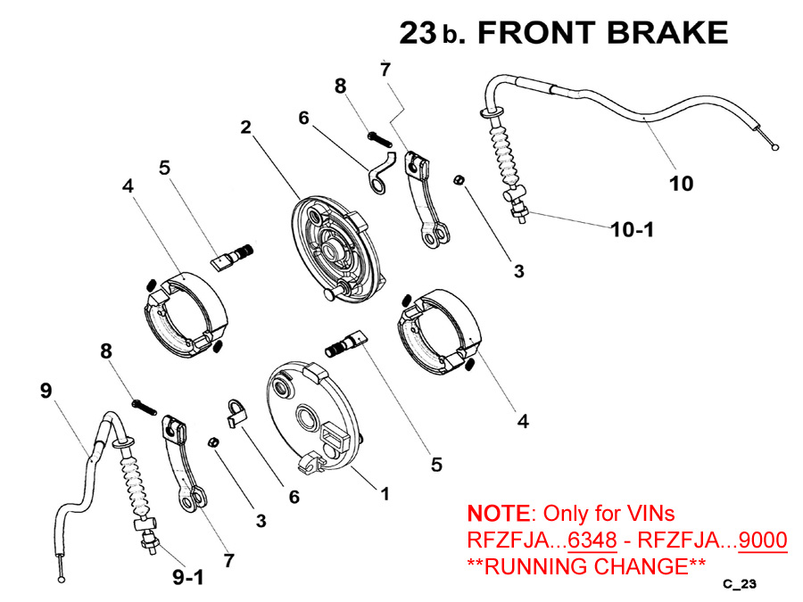 Fast Shipping-Eton Yukon YXL150cc ATV Front Brakes Shoes, Cables, and Other brake parts